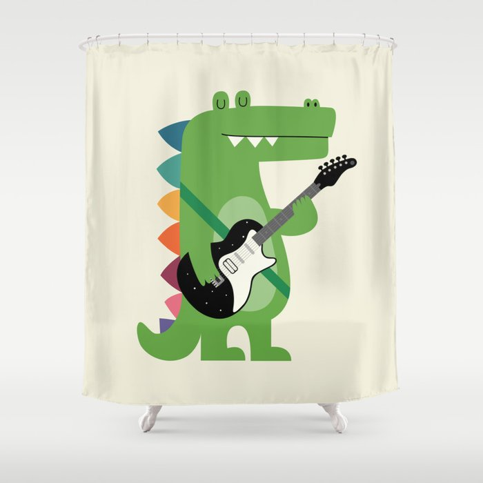 Croco Rock Shower Curtain By Andywestface