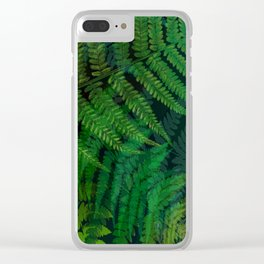 Forest Fern Clear iPhone Case