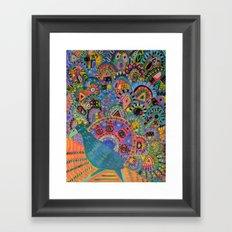 Peacock # 5 Framed Art Print