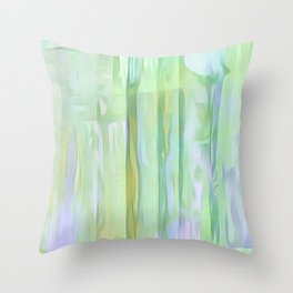 Cool Waves Of Color Abstract Throw Pillow