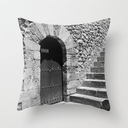 A door in Taormina, Sicily Throw Pillow