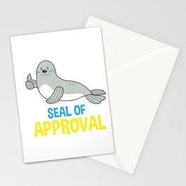 Animal Lover Funny Sea Lion Seal of Approval Gift Stationery Cards