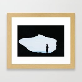 Peep Hole Framed Art Print