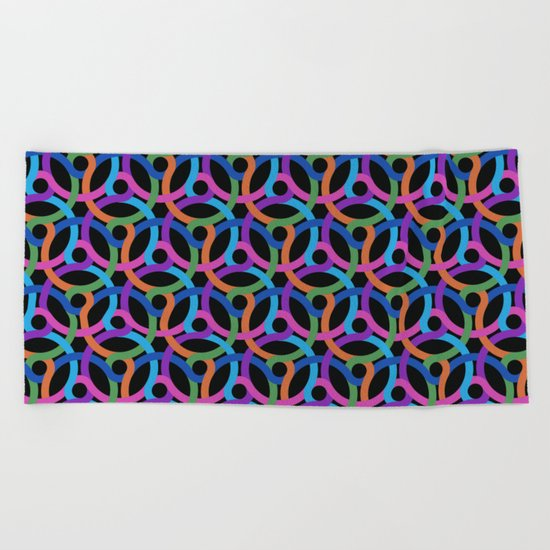 Colorful rings Beach Towel
