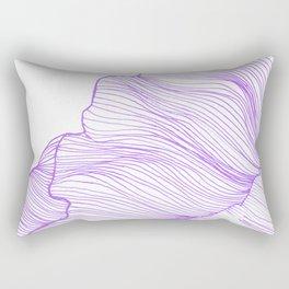 Sea waves line illustration Purple Modern Minimalist drawing. Rectangular Pillow