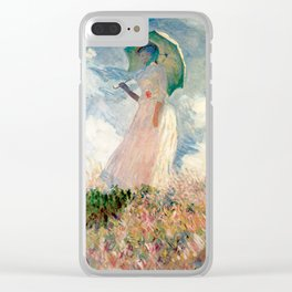 Claude Monet's Woman with a Parasol, Study Clear iPhone Case