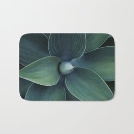 Dark green leaves Bath Mat
