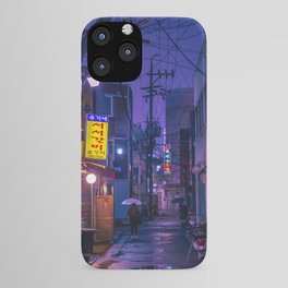 Purple Alleys of Korea iPhone Case