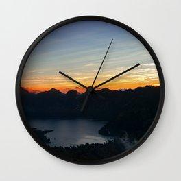 Sunrise at Rinjani Wall Clock