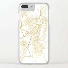 YEREVAN ARMENIA CITY STREET MAP ART Clear iPhone Case