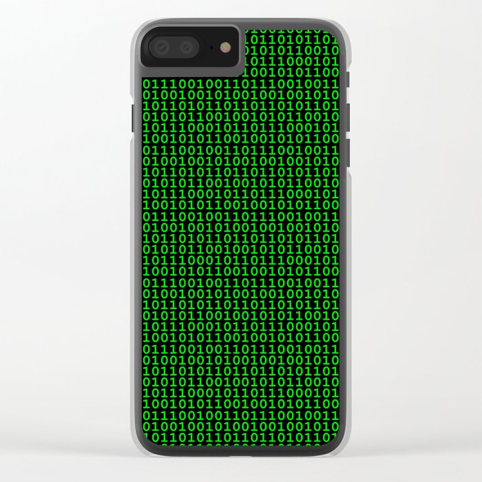 Binary Green Clear iPhone Case