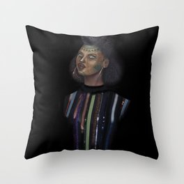 Distinguished young lady Throw Pillow