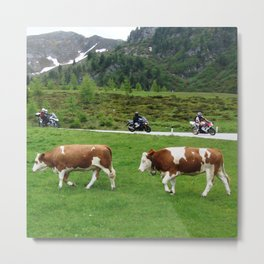 On the Motorbike trough AUSTRIA 02 Metal Print
