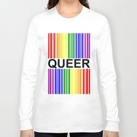 queer Long Sleeve T-shirts featuring QUEER UPC by SLANTEDmind.com