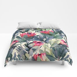 Painted Protea Pattern Comforters