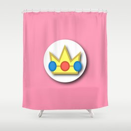 The Emblem of the Princess, Peach Shower Curtain