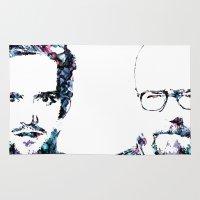 heisenberg Area & Throw Rugs featuring Heisenberg by NKlein Design