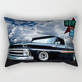 65 Chevy C-10 Stopping at Roy's on Route 66 Rectangular Pillow