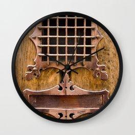 Brass Letterbox Wall Clock