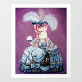 Guinea Pig Marie Antoinette - Let Them Eat Cake Art Print