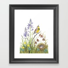 Morning in the Meadow Framed Art Print