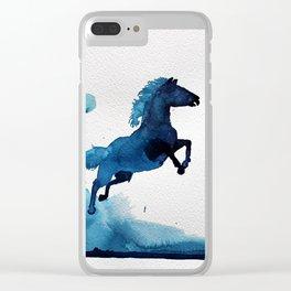 Equus ferus caballus Clear iPhone Case
