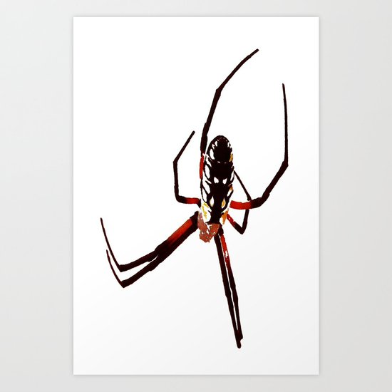 spider from mars Art Print