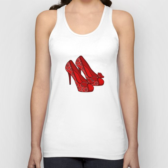 Red Shoes Unisex Tank Top