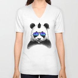 DJ Punk Panda Unisex V-Neck