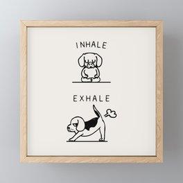 Inhale Exhale Beagle Framed Mini Art Print