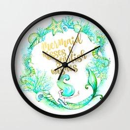 Mermaid Wishes Wall Clock
