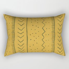 Moroccan Stripe in Mustard Yellow Rectangular Pillow