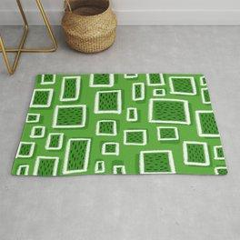greeny square Rug