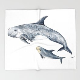 Risso´s Dolphin Throw Blanket