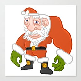 Buff Santa Canvas Print