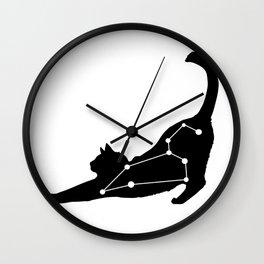 leo cat Wall Clock