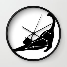 leo cat Wall Clock