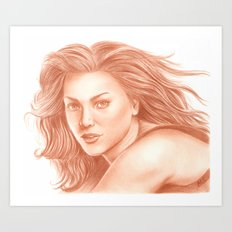 Woman Portrait 3 Art Print