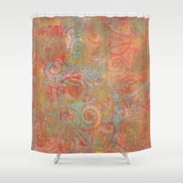 Gelatin monoprint 19 Shower Curtain