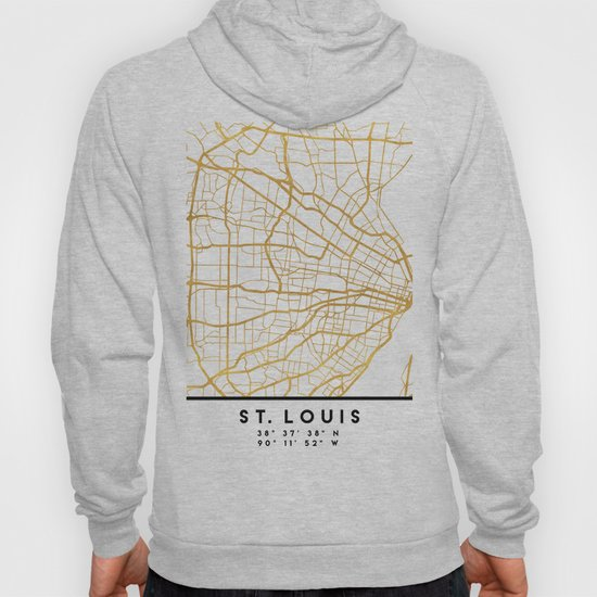 ST. LOUIS MISSOURI CITY STREET MAP ART by deificusart