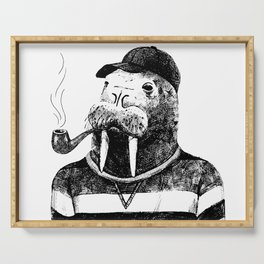Walrus with a Pipe Serving Tray