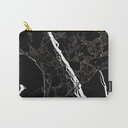 Abstract black white gray modern marble Carry-All Pouch