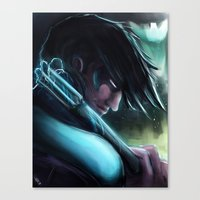 nightwing Canvas Prints featuring Nightwing by Nicole M Ales