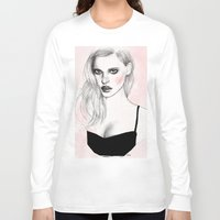 megan lara Long Sleeve T-shirts featuring Lara by Katie Jagielnicka