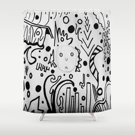 Forming Thoughts Shower Curtain
