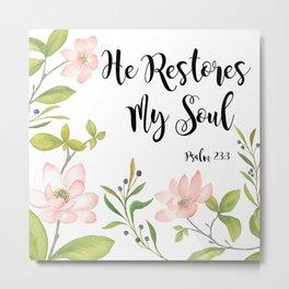 Restore my soul Metal Print