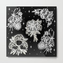 floral night Metal Print