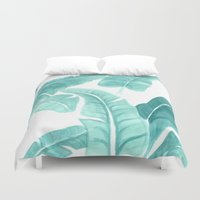 palms Duvet Covers featuring Palms by Christine Khoury Illustrations