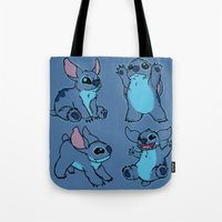 stitch Tote Bags featuring Stitch  by Magen Works