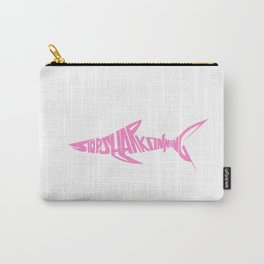 Stop Shark Finning (pink) Carry-All Pouch